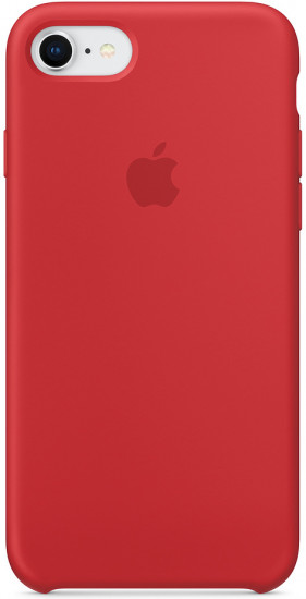 Чехол cиликоновый для iPhone 7/8, (product red)