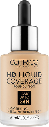Тональная основа «HD Liquid Coverage Foundation», оттенок 036 Hazelnut Beige