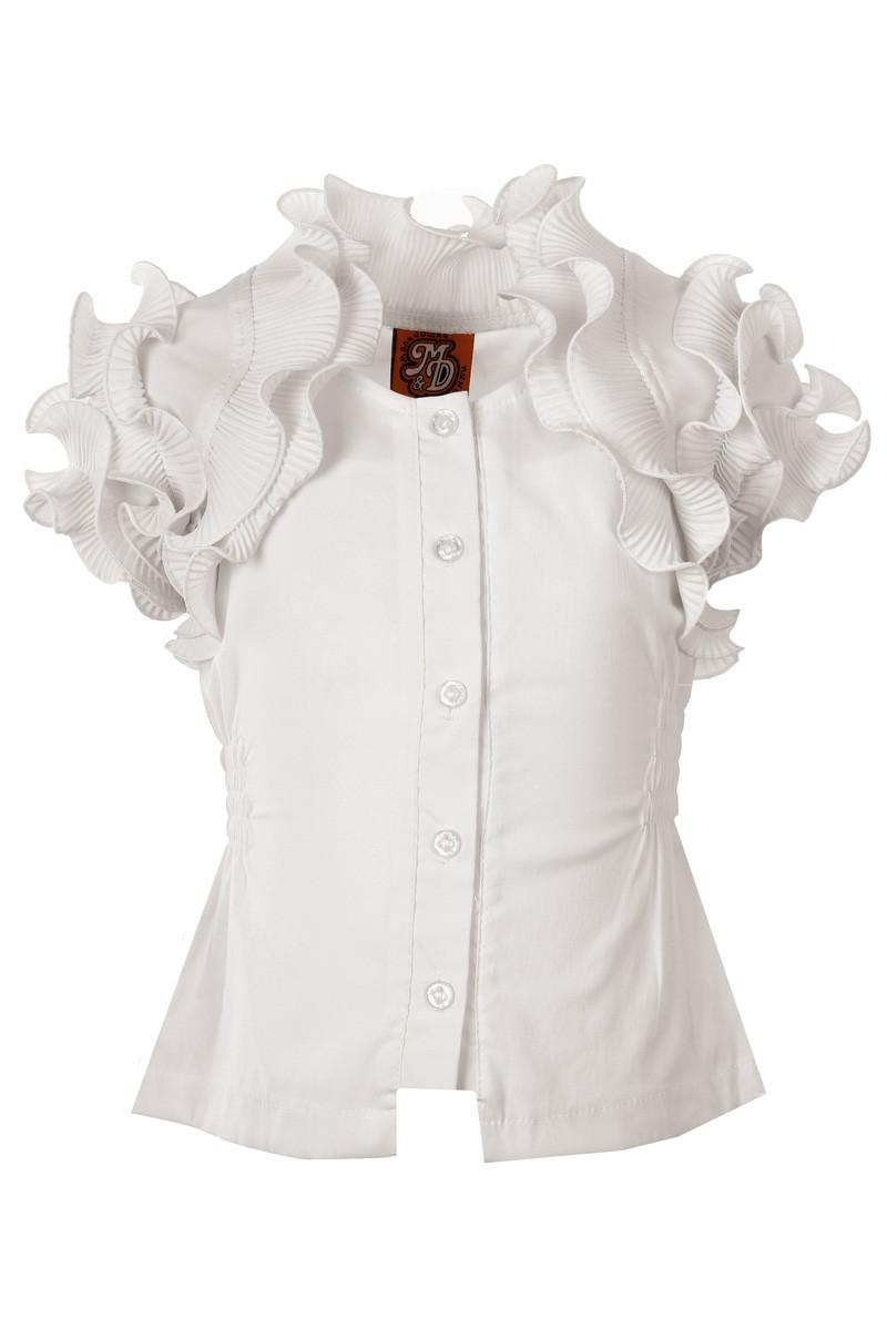 Детская Нарядная Блузка Белая