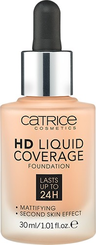 Тональная основа «HD Liquid Coverage Foundation», оттенок 030 Sand Beige