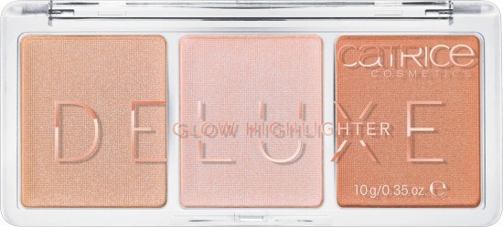 Палетка хайлайтеров «Deluxe Glow Highlighter», оттенок 010 The Glowrious Three