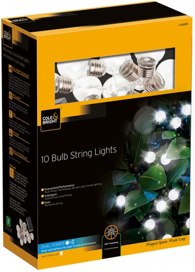 Гирлянда &laquo10 Clear Bulb String Lights» (10 ламп)