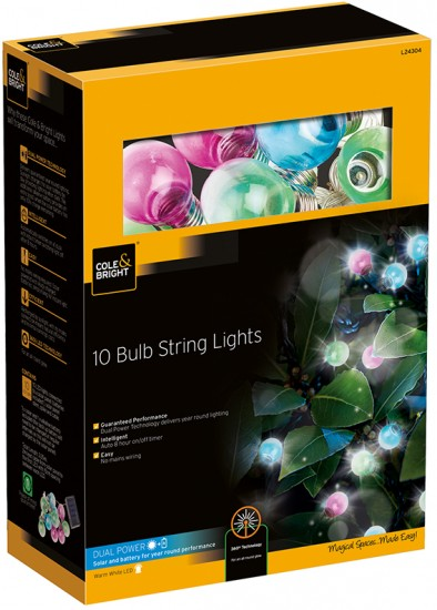 Гирлянда &laquo10 Colour Bulb String Lights» (10 ламп)