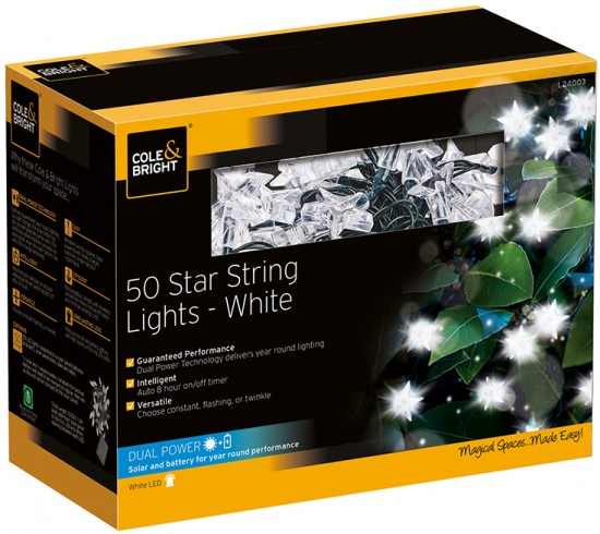 Гирлянда уличная &laquoStar String Lights» (50 LED-ламп)