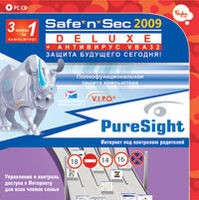 Safe`n`Sec 2009 + PureSight PC (3 месяца - 1 ПК)