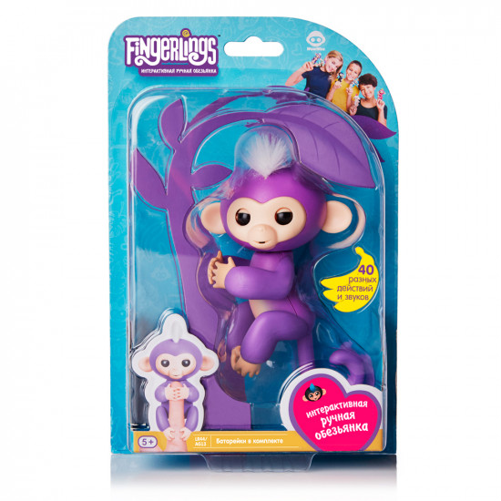 Интерактивная игра FINGERLINGS «Обезьянка Мия»