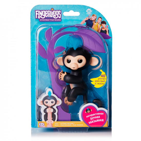 Интерактивная игра FINGERLINGS «Обезьянка Финн»