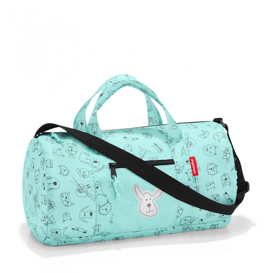 Сумка детская складная «Dufflebag», cats and dogs mint