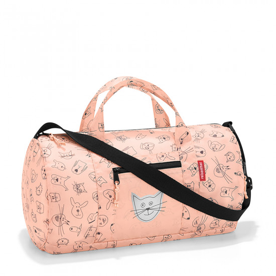 Сумка детская складная «Dufflebag», cats and dogs rose