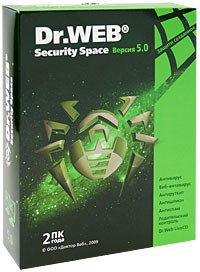 Dr.Web Security Space 5.0. Лицензия на 2 года (для 2 ПК)