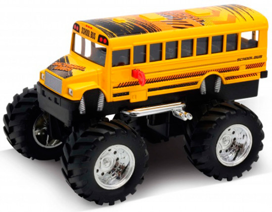 Модель машины «School Bus Big Wheel Monster»