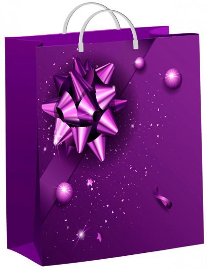 b85f301e6 Пакет подарочный «Фиолетовый подарок» (40х30 см)