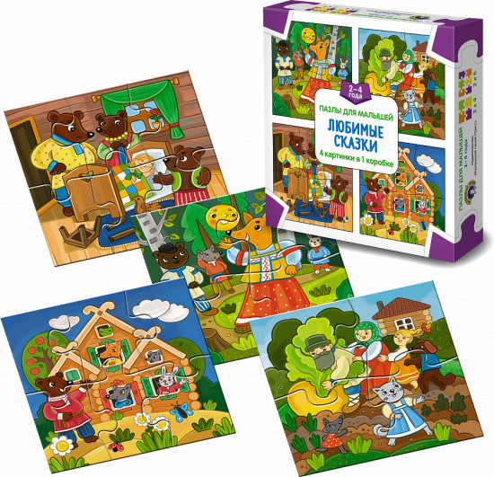пазлы для малышей любимые сказки купить за 1 685 тг книга
