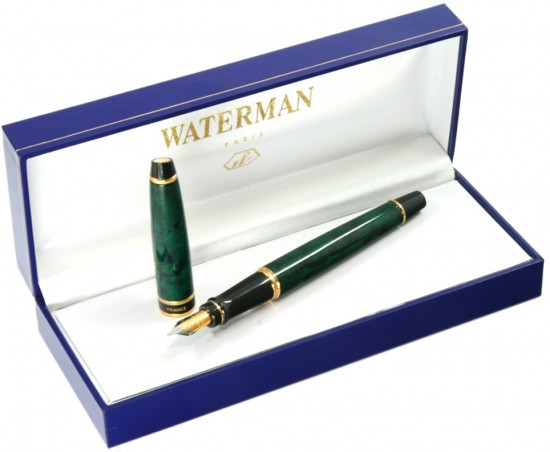 Ручка перьевая Waterman «Expert» Dune Green GT