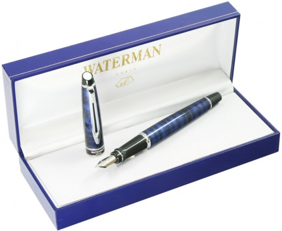 Ручка перьевая Waterman «Expert» Dune Blue CT