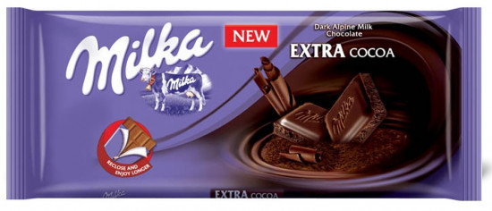 Шоколад Milka «Extra cacao dark chocolate»