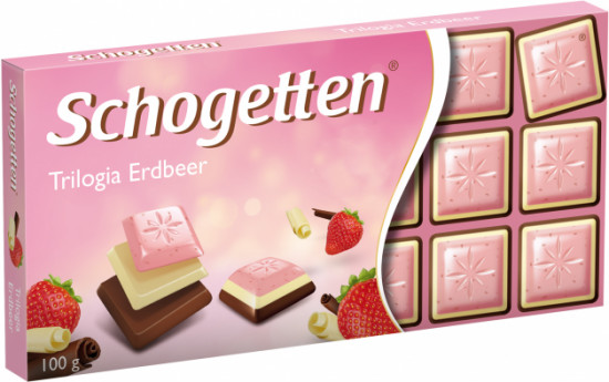 Шоколад Schogetten «Trilogia Strawberry»