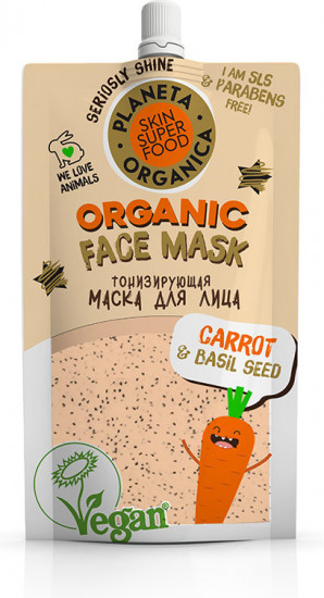 Маска для лица тонизирующая «Carrot & basil seeds»