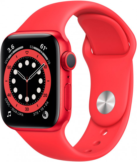 Смарт-часы Apple Watch Series 6 GPS 40mm Product (Red) Aluminium Case with Product (Red) Sport Band