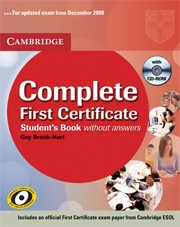 Complete First Certificate Student's Book