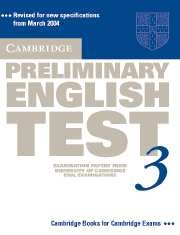 Cambridge PET (Preliminary English Test) 3 Student's Book