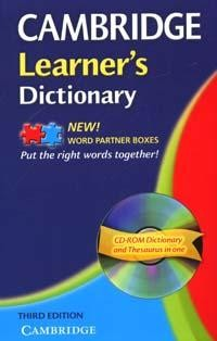 Cambridge Learner's Dictionary Third edition with CD-ROM