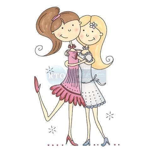 Нарисовать красивую открытку для подруги просто так