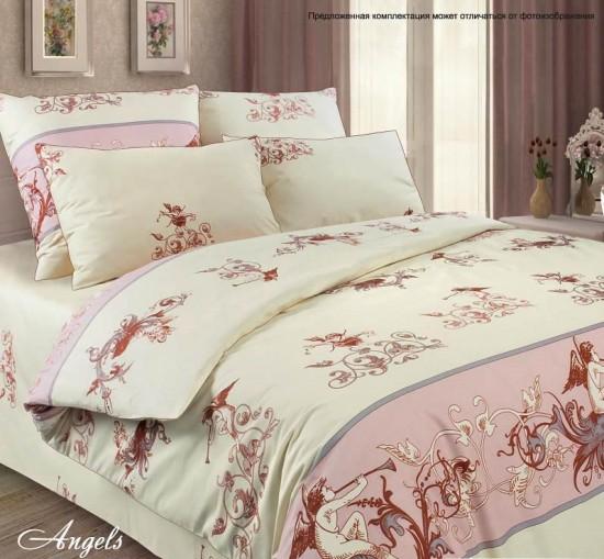 487303615cc7 Комплект постельного белья «Angels» (евро, тенсел, 2 наволочки 50х70 с  ушками