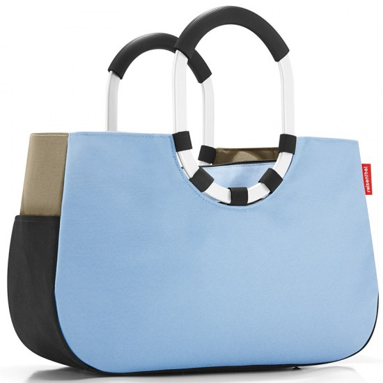 Сумка «Loopshopper M», patchwork pastel blue