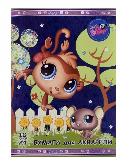 Папка для акварели «Littlest Pet Shop», в ассортименте