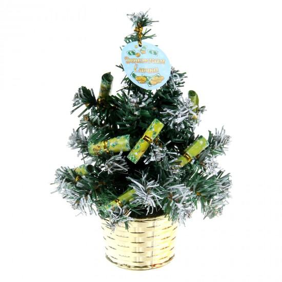 Новогодний сувенир Lefard Елочка с шарами 26cm с подсветкой 786-168