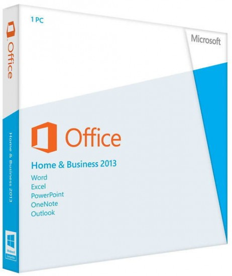 Microsoft Office Home and Business 2013, 1ПК, DVD