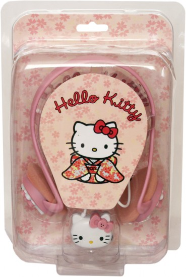 Наушники + Микрофон Hello Kitty