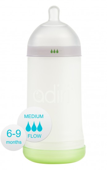 Бутылочка Adiri NxGen Medium Flow White (6-9 мес., 281 ml)