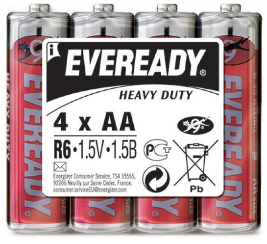 Батарея LR6 AA «Energizer» Eveready HD, 4 штуки
