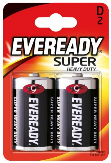 Батарея R20-D «Energizer» Eveready SHD, 2 штуки