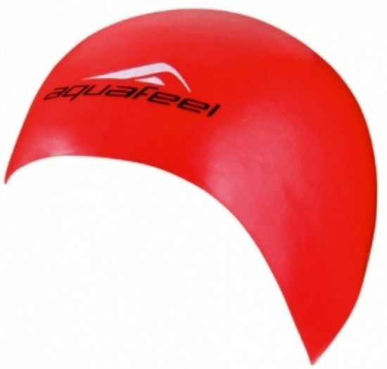 Шапочка для плавания AquaFeel Silicon CAP, красный