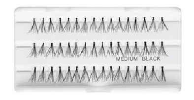 Ресницы накладные «Permanent individual lashes», 02 Medium black