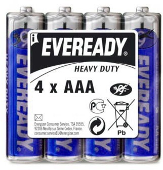 Батарея R03 AAA «Energizer» Eveready, 4 штуки