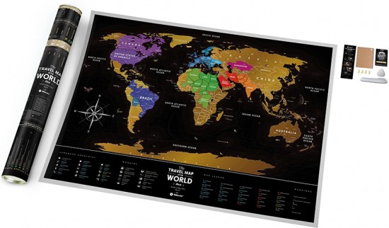 Карта Travel Map Black World