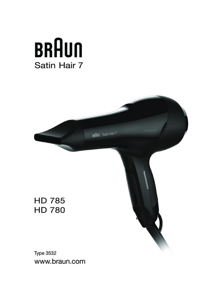 Фен Braun Satin Hair 7 HD 780 SOLO MN BLK BOX HAIRDRYER — Купить за ... 28397ecb9f77a